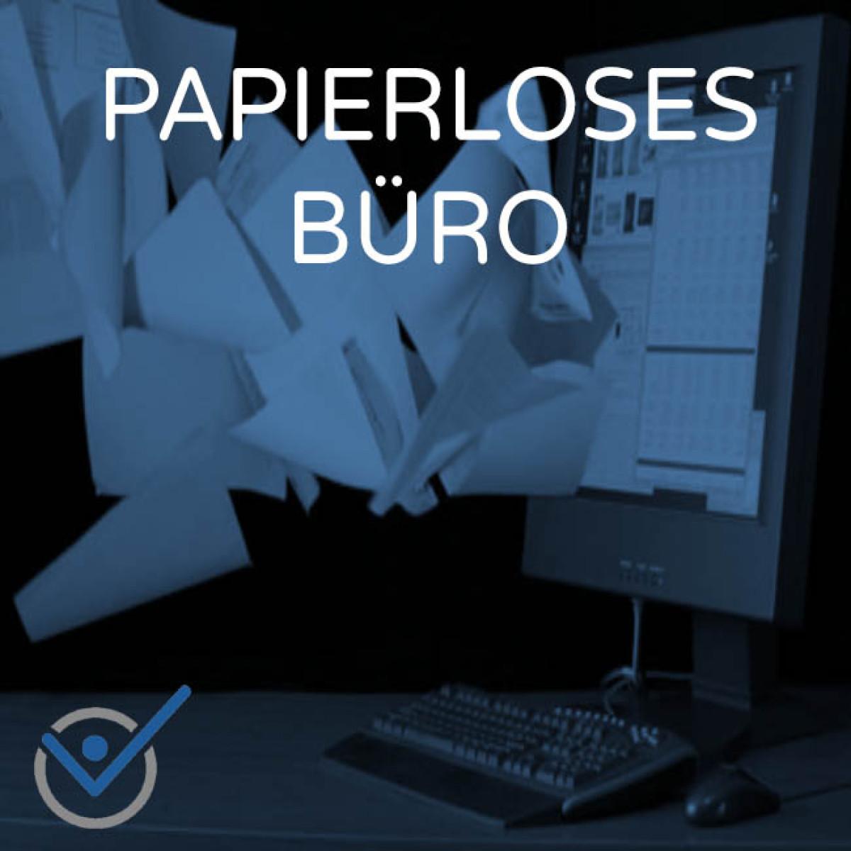 Papierloses Büro papierlos werden