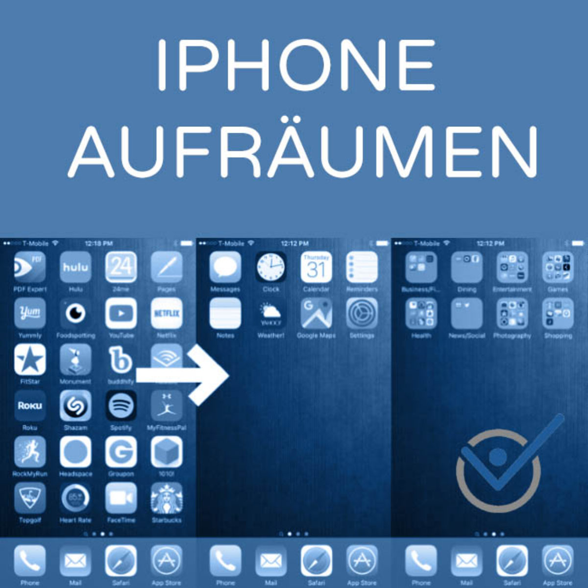 iphone aufr umen so bringen sie ordnung und minimalismus aufs telefon. Black Bedroom Furniture Sets. Home Design Ideas