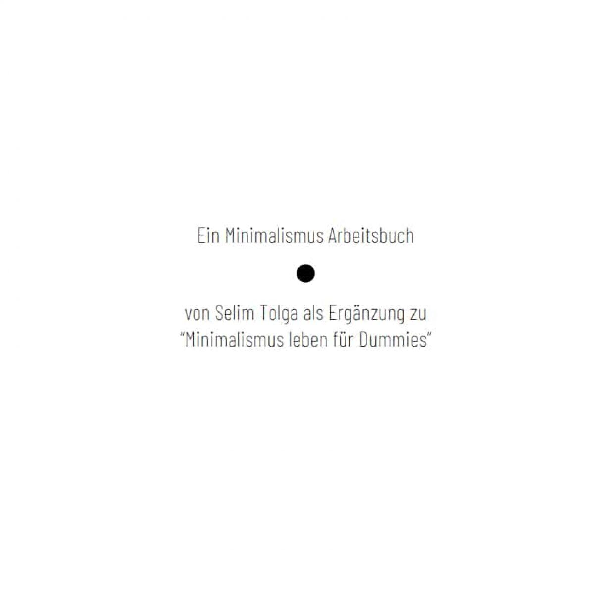 Minimalismus Buch Arbeitsbuch